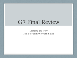 G7 Final Review Questions iLearn