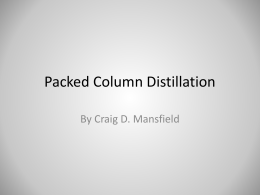 Packed Column Distillation