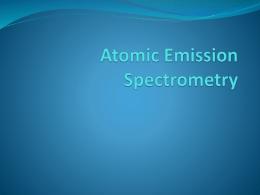 Atomic Emission Spectrometry