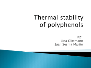 Thermal stability of polyphenols - IQ
