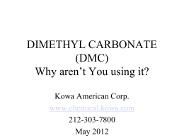 DIMETHYL CARBONATE - Kowa American Corporation