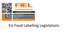 Food Labelling Presentation