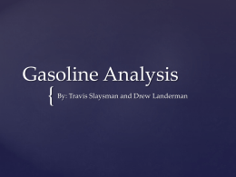 Real World Gasoline Analysis