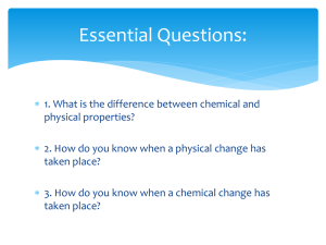 Chemical and Physical Properties Cornell Notes