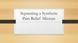 Separating a Synthetic Pain Relief Mixture - christine