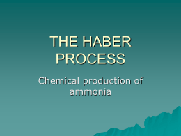 THE HABER PROCESS - slider-chemistry-12