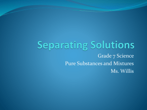 Separating Solutions - Grade 7 Science is Awesome!
