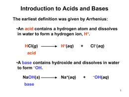Intro To Acids Bases Worksheet