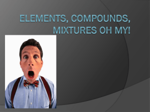 Elements, Compounds, Mixtures Oh My!