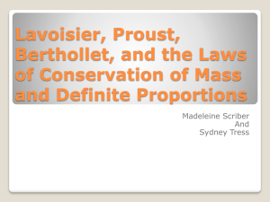 Lavoisier, Proust, Berthollet, and the Laws of