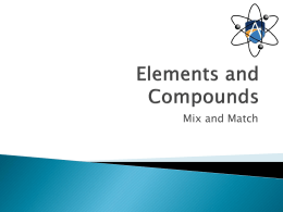 Elements, compounds and metals