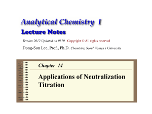 Analytical Chemistry Lecture Note