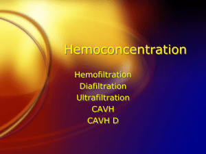 Hemoconcentration