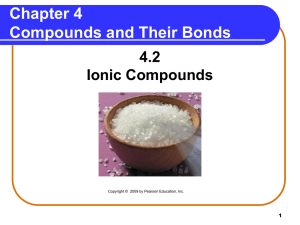 4.2 Ionic Compounds