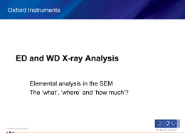 ED and WD X-ray Analysis