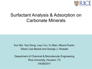 Surfactant adsorption on Carbonates