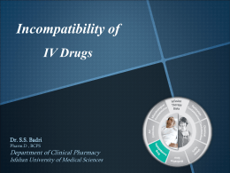 IV drug compatibilities based on the pH