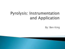Pyrolysis: Instrumentation and Application