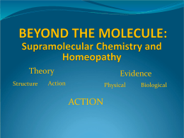 Physics of Homeopathy - Theory of Condensed Matter