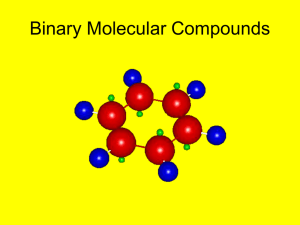Binary Molecular Compounds and Acids - for posting