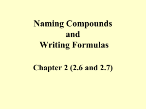 Naming Compounds Writing Formulas-1