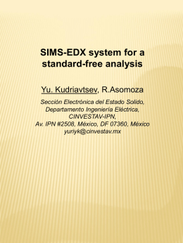 SIMS-EDX system for a standard-free analysis Yu. Kudriavtsev