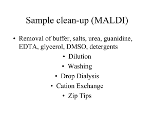 MALDI Clean-up - QB3