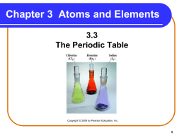 3.3 The Periodic Table