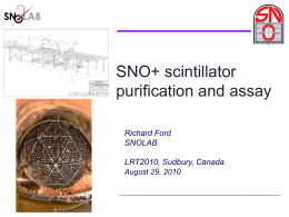 SNO+ scintillator purification and assay