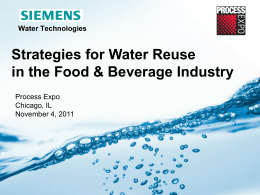 Strategies for Water Reuse in F&B