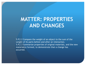 Properties of Matter Study Guide Powerpoint