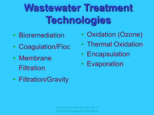 PowerPoint - Wastewater Treatment Technologies