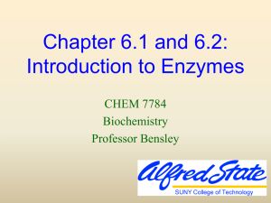 Enzymes: Principles of Catalysis