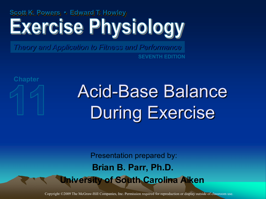 acid base balance exercise