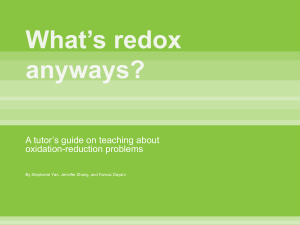 What`s redox anyways?