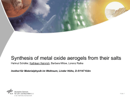 Synthesis of metal oxide aerogels from their salts