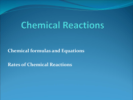 Chpt 17 Chemical Reactions