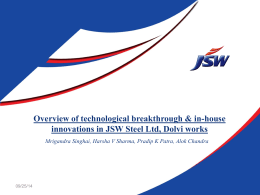 Overview of technological breakthrough & in-house