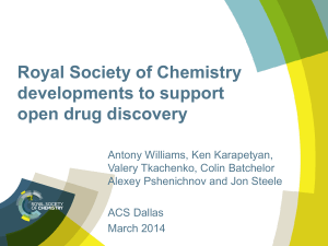 Supporting Open Drug Discovery
