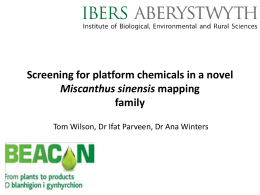 Screening for platform chemicals in a novel
