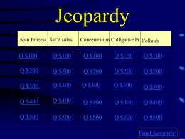 Jeopardy challenge