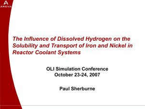 The Influence of Dissolved Hydrogen on the Solubility and Transport