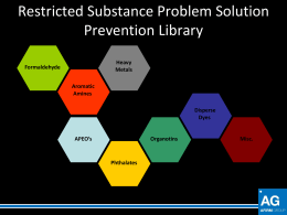 Restricted Substance Problem Solution Prevention