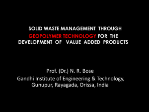Solid Waste Management through Geopolymer