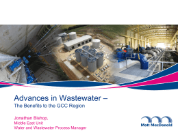Mott Macdonald - Advances in Wastewater