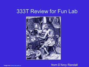 ChE253M Randall`s ChE333T Review for FunLab