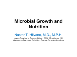 07 Microbial Growth and Nutrition
