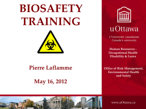 Biosafety At the University of Ottawa