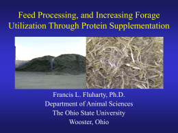 Feed Processing, and.. - Ohio State University Extension Beef Team