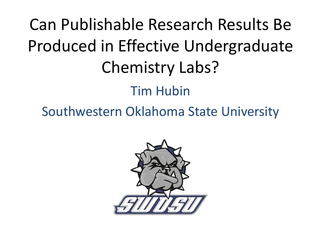 Ppt0000003 - Southwestern Oklahoma State University